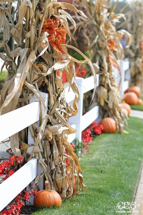 outside fall decorating ideas rustic chic 27 corn husks d 233 cor ideas for fall shelterness