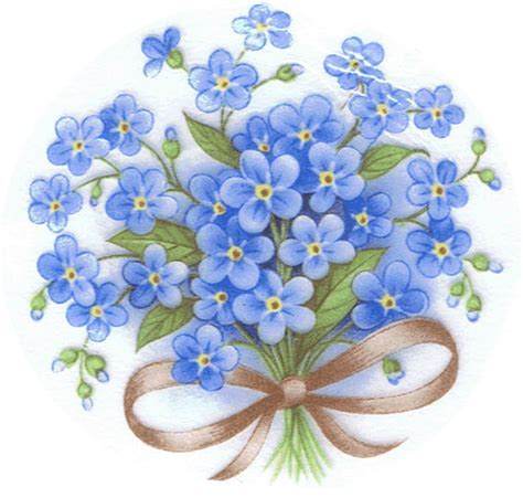 printable forget me not flowers forget me not type 1 advocate gramma