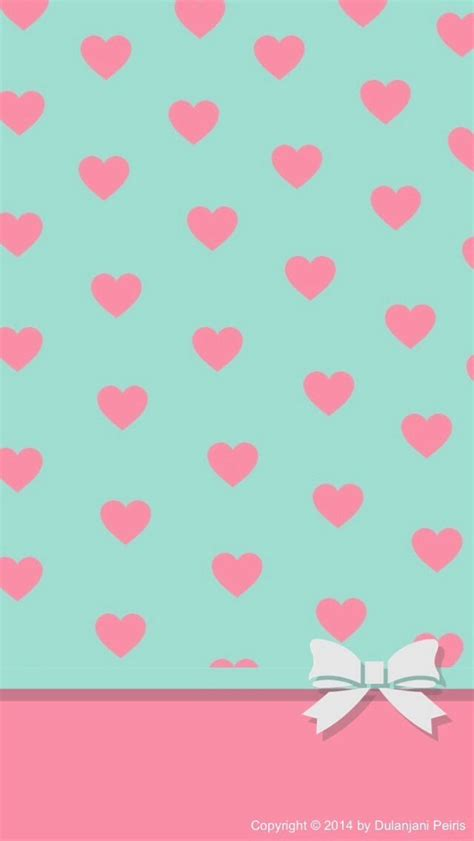 wallpaper pink bow pink hearts white bow wallpaper iphone wallpaper