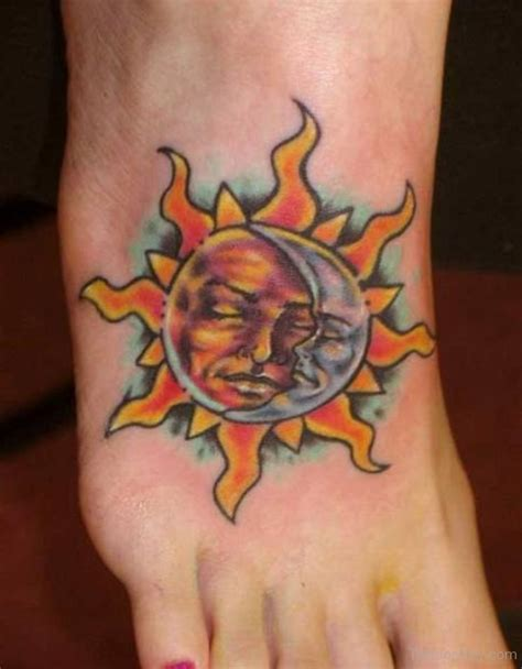 sun foot tattoo designs pictures a category wise