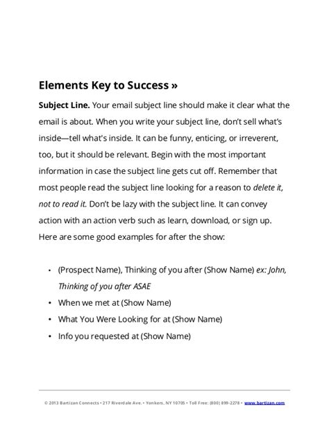 the 2013 exhibitor s guide to email follow up with four proven templa