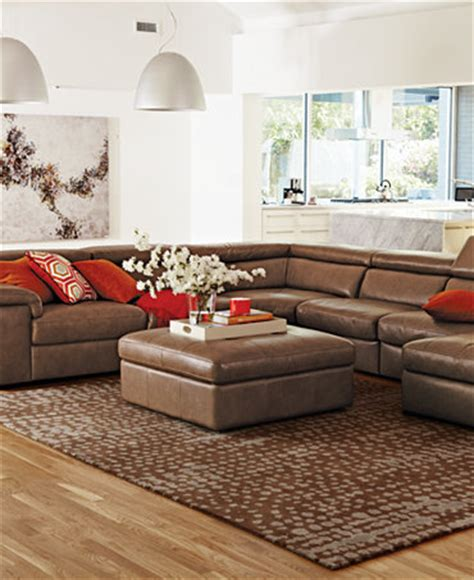 gavin leather sectional gavin leather sectional living room furniture collection