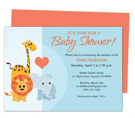 microsoft templates for baby shower 50 microsoft invitation templates free sles
