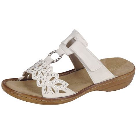 white sandals for rieker atlantis 608a6 wide fit slip on flat mules