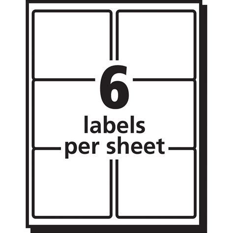 Avery Easy Peel Mailing Label Ave5664 Supplygeeks Com 6 Per Sheet Label Template