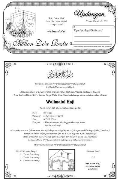 contoh undangan walimatul haji word contoh isi undangan