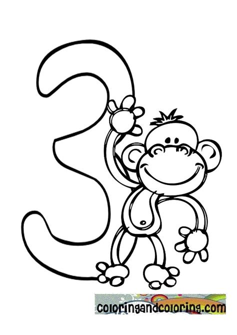 number 3 coloring pages preschool number 3 coloring page get coloring pages