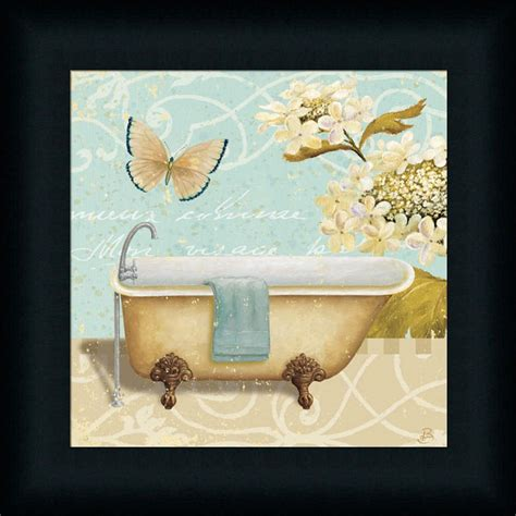 Vintage Bathroom Wall Decor by Light Bath Ii Shabby Vintage Bathroom Framed