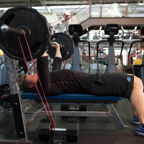 bench press with resistance bands workout bench press with bands exercise guide and