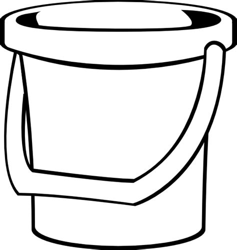 water pail coloring page white bucket 1 clip art at clker com vector clip art