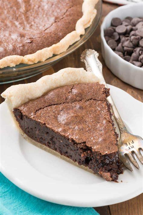 best chocolate pie recipe the best brownie pie from scratch for crust