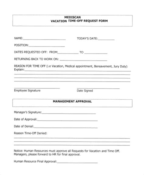 Sle Time Off Request Form 12 Free Documents In Doc Pdf Time Request Form Template Pdf