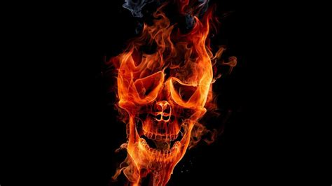 Flaming Skull Wallpapers   Wallpaper Cave
