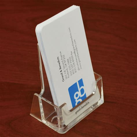 Countertop Business Card Holder acrylic countertop business card holder vertical portrait