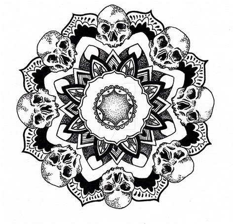 tattoo mandala skull skull mandala by csillustration on deviantart