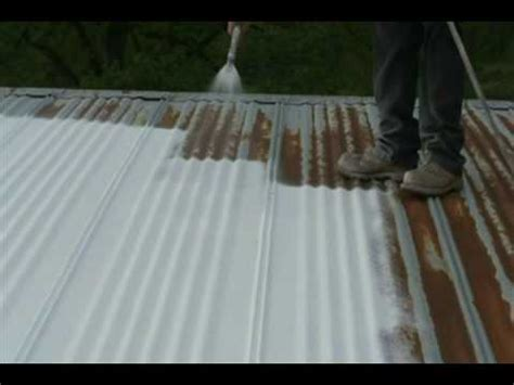 Barn Roofs by Easy Metal Roof Repair Using Quot Maximum Stretch Quot Spray On