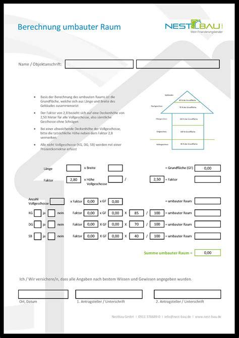 berechnung quadratmeter wohnung baufinanzierung formulare nestbau gmbh