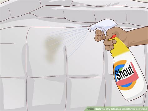 how to spot clean a comforter how to dry clean a comforter at home 12 steps with pictures