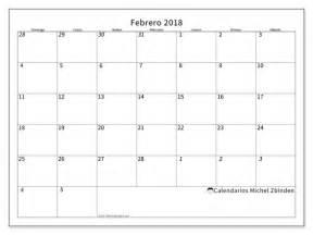 Calendario 2018 Febrero Calendario Para Imprimir Febrero 2018 Deodatus
