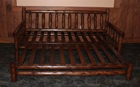 Rustic Futon Beds by Rustic Log Futon