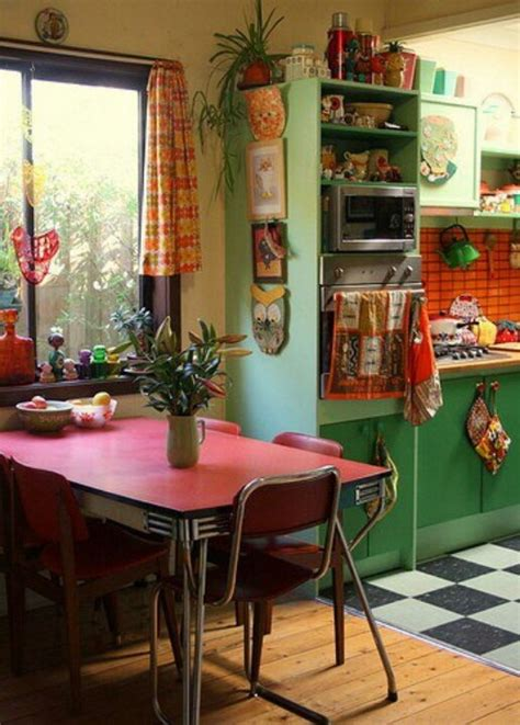 colorful kitchens ideas 49 colorful boho chic kitchen designs digsdigs