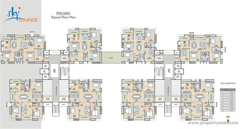 layout of polaris mall meenakshi sky lounge kondapur hyderabad residential