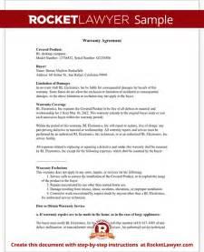 warranty statement template warranty agreement template warranty agreement with sle