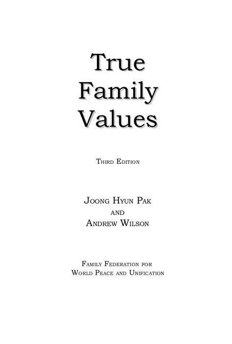 the origin of the family property and the state books true family values family pledge