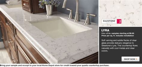 Lyra Quartz Countertops by Home Depot Kitchen Countertops Quartz Quotes