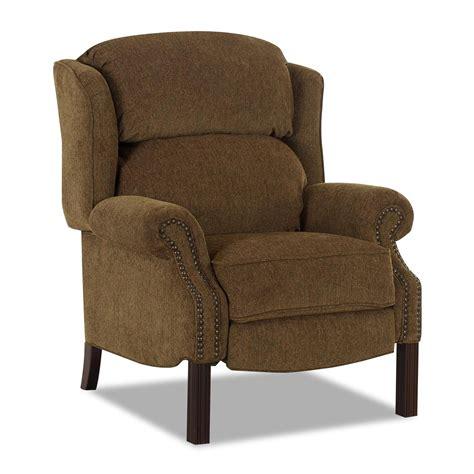klaussner high leg recliners greenbrier high leg reclining