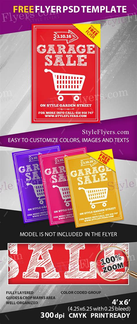 Garage Sale Flyer Template Word by Neighborhood Garage Sale Flyer Template Payslip Excel