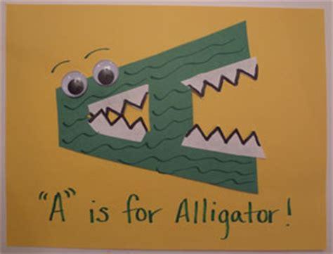 letter a alligator craft | all kids network