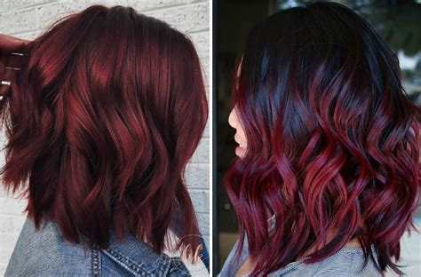 mulled wine hair   coolest  hair color trend