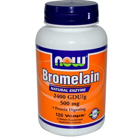 Suplemen Bromelain Now Foods Bromelain 500 Mg 120 Veggie Caps Iherb