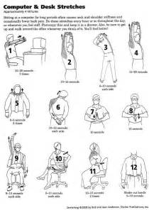 Computer Desk Stretches steno fitness approximately 4 minutes of computer desk