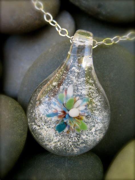 custom cremation jewelry teardrop pendant on sterling