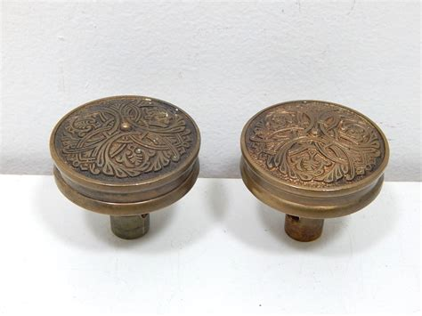 art nouveau knobs art nouveau vintage brass antique pair of door knobs