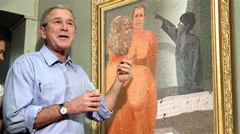 george bush painting bathtub george w bush debuts new paintings of dogs friends