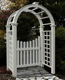 Garden Arch With Gate Ebay New Arbors Decorative Nantucket Deluxe Garden