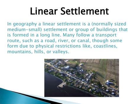 pattern definition geography image gallery linear settlement