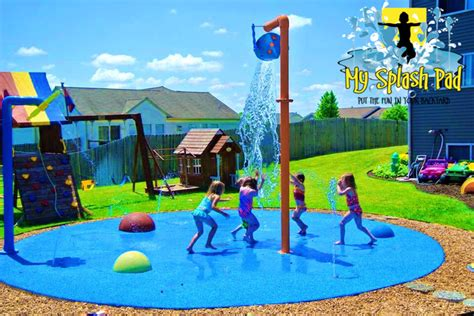 backyard splash park home splash park in caledonia michigan installed by my