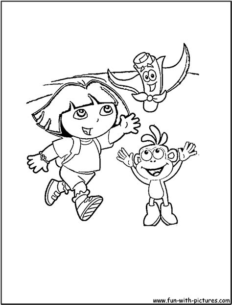 dora coloring pages map dora boots map coloring page