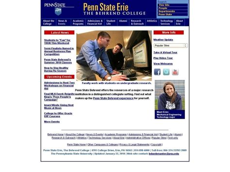 Penn State World Cus Mba Gmat Score by Penn State Erie The Behrend College Sam And Irene Black