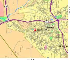 corona zip code map zip code map