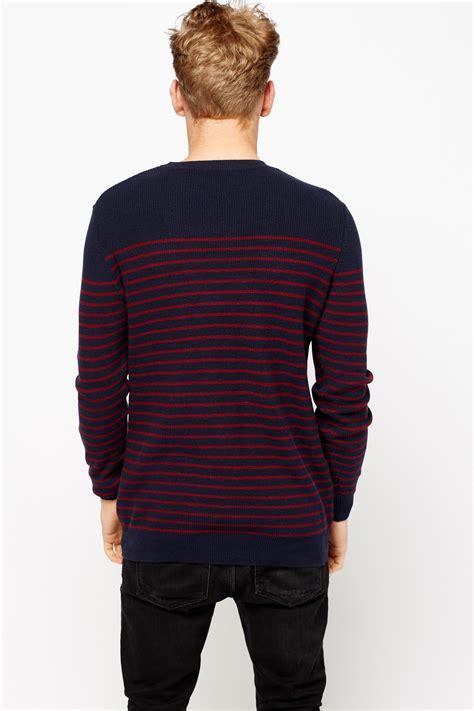 knitting pattern striped jumper striped knitted mens jumper just 163 5