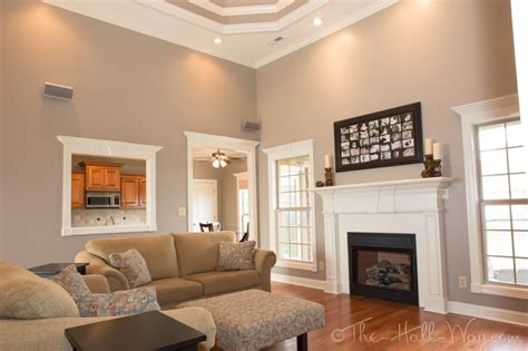 neutral living room color schemes family room behr perfect taupe so chris and i may have