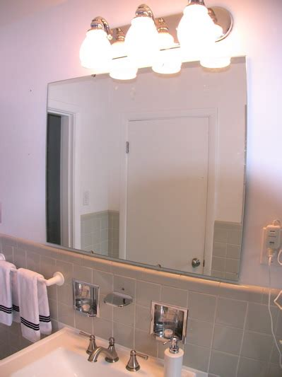 Install Bathroom Mirror Bathroom Mirror Installation Painting Home Repairs