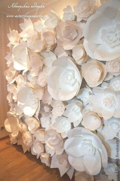 How To Make Paper Flowers For Wall - paper flower wall wedding ideas