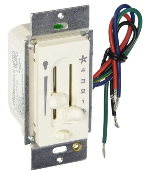 ceiling fan and light control switch hunter 27183 4 speed ceiling fan light slide control