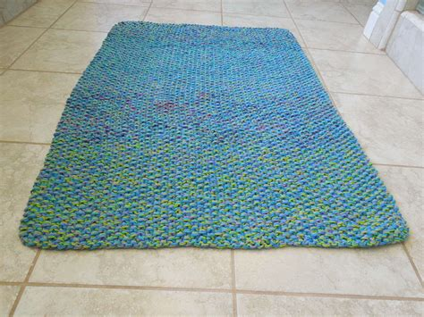 knit rug pattern cotton bath mat free knitting pattern